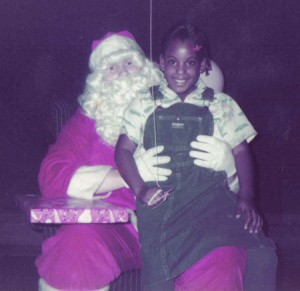 Me & Santa Claus at my father's company Christmas party around 1984.